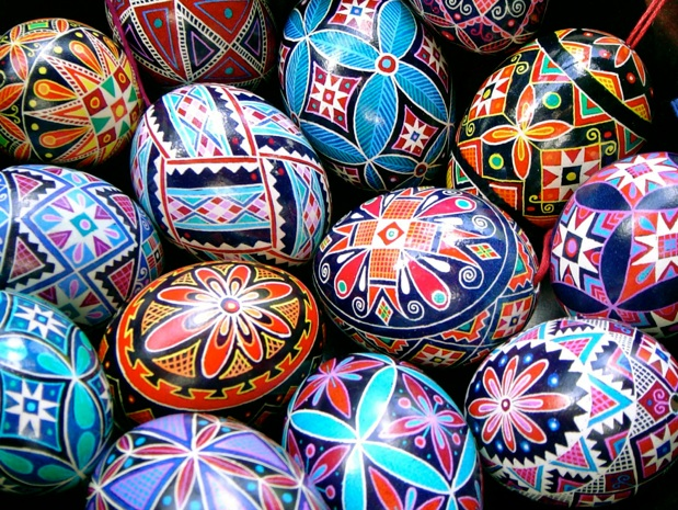 Pysanky made from antipodean chicken egg pysanky (2006)