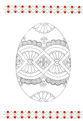 pysanky egg coloring pages - the back cover is informative it gives a very basic